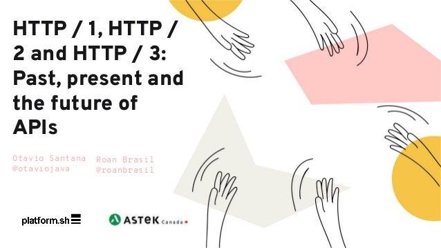 Otavio Santana @otaviojava HTTP / 1, HTTP / 2 and HTTP / 3: Past, present and the future of APIs Roan Brasil @roanbrasil