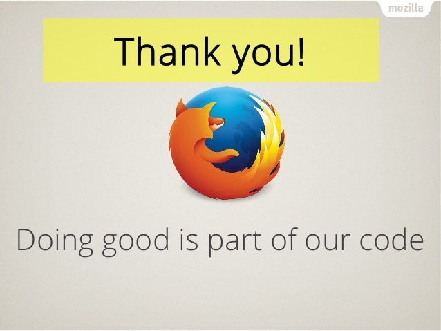 Doing good is part of our code Thank you!