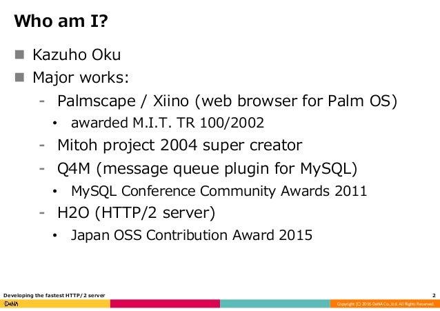 Developing the fastest HTTP/2 server Slide 2