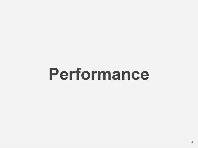 Performance 45