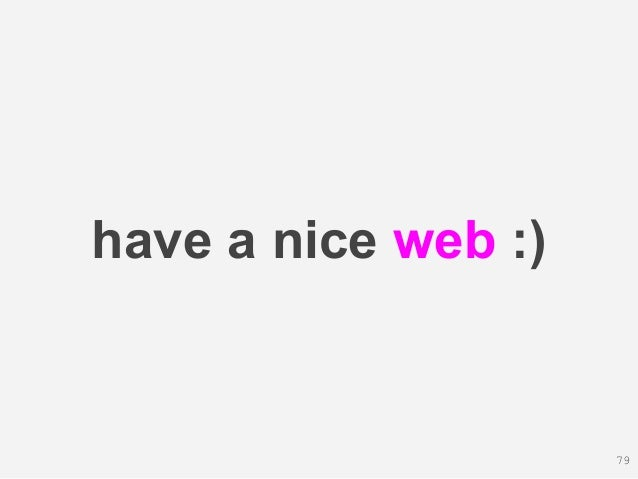 have a nice web :) 79