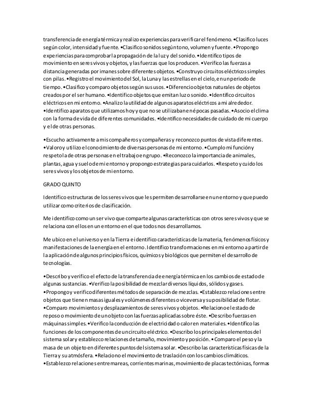 transferenciade energíatérmicayrealizoexperienciasparaverificarel fenómeno.•Clasificoluces segúncolor,intensidady fuente.•...