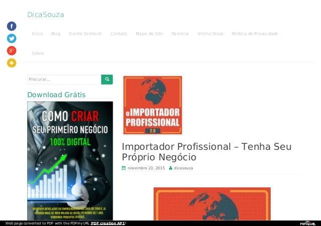 DicaSouza Início Blog Ganhe Dinheiro Contato Mapa do Site Parceria Vitrine Shop Política de Privacidade Sobre Importador P...