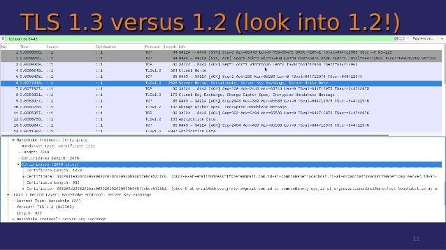 TLS 1.3 versus 1.2 (look into 1.2!)TLS 1.3 versus 1.2 (look into 1.2!) 11