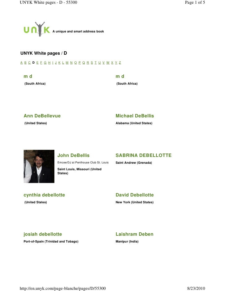 UNYK White pages - D - 55300                                                            Page 1 of 5                       ...