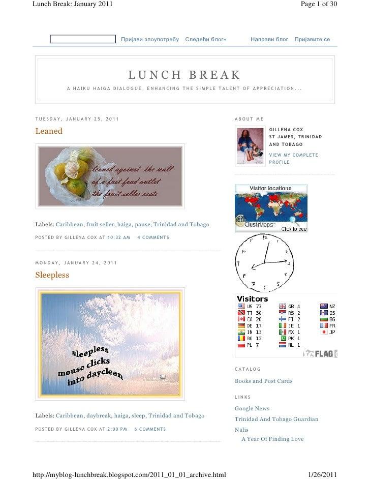 Lunch Break: January 2011                                                                                            Page ...