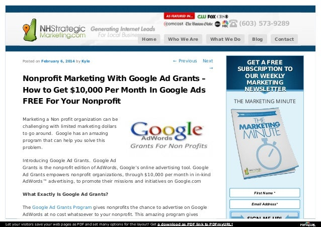 Nonprofit Marketing With Google Ad Grants – How to Get