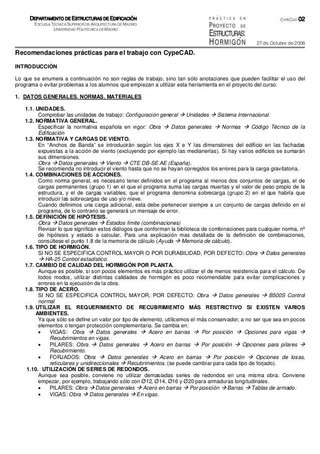 DEPARTAMENTO DE ESTRUCTURAS DE EDIFICACIÓN                                                             CYPECAD   02       ...