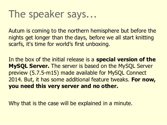 The speaker says...  Autum is coming to the northern hemisphere but before the  nights get longer than the days, before we...