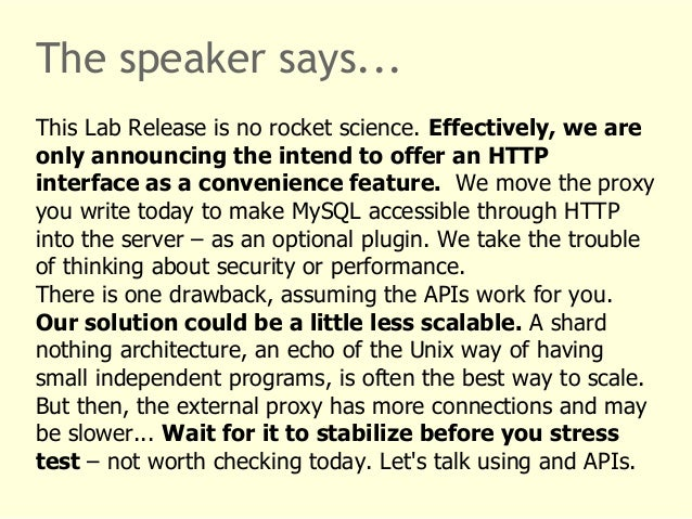 The speaker says...  This Lab Release is no rocket science. Effectively, we are  only announcing the intend to offer an HT...