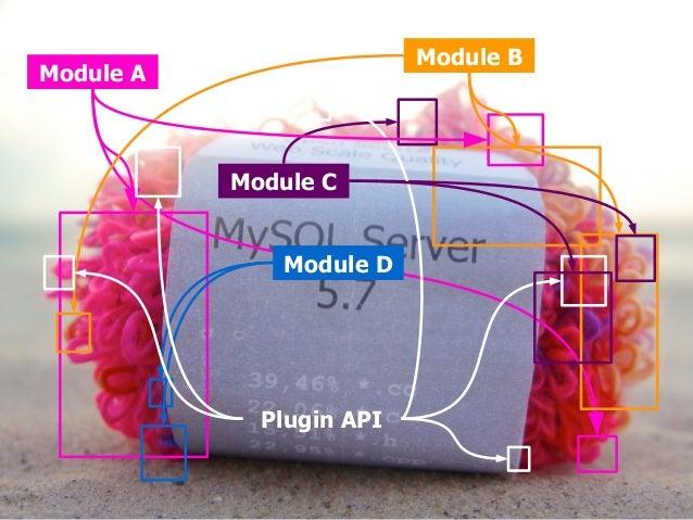 Module A  Module B  Module C  Module D  Plugin API