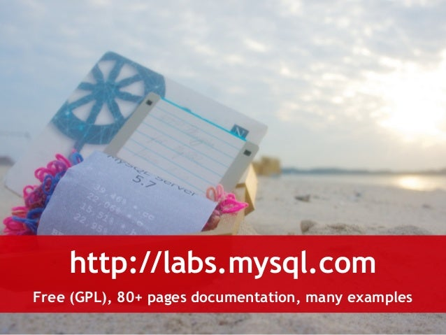http://labs.mysql.com  Free (GPL), 80+ pages documentation, many examples
