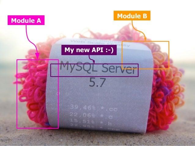 Module A  Module B  My new API :-)