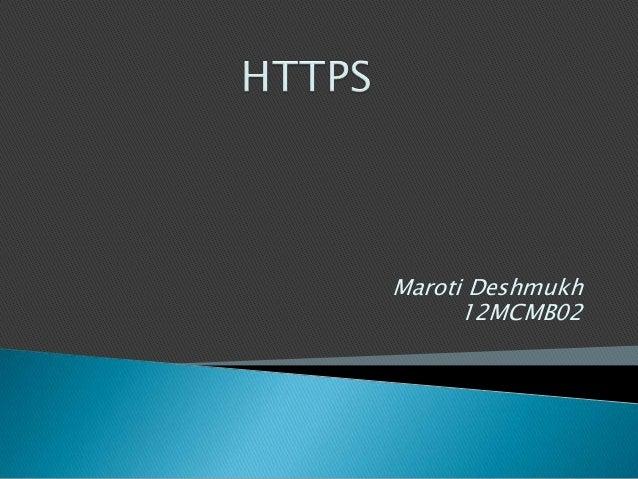 Maroti Deshmukh 12MCMB02