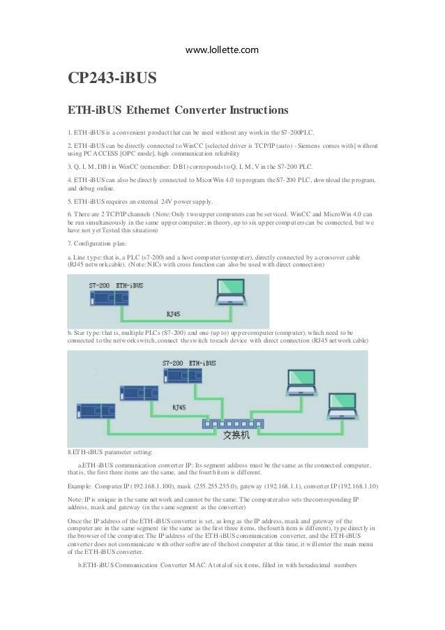 ETH-iBUS Ethernet Converter