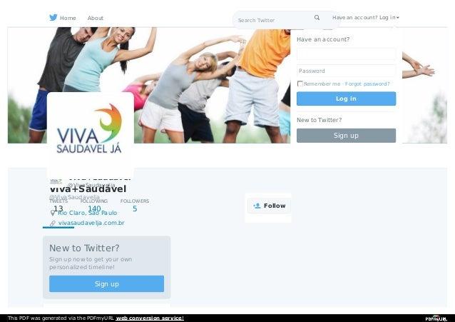 Viva+Saudável @VivaSaudavelja Rio Claro, São Paulo vivasaudavelja.com.br New to Twitter? Sign up now to get your own perso...