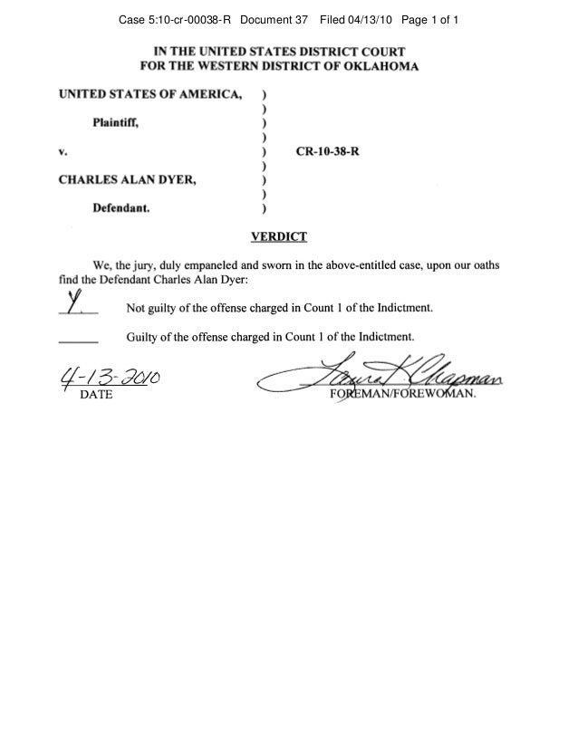 Charles Dyers Aka July 4 Patriot S Federal Jury Instructions For H