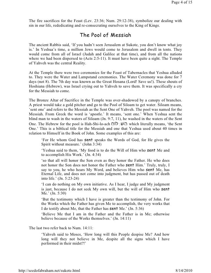 Feast Of Tabernacles Sukote