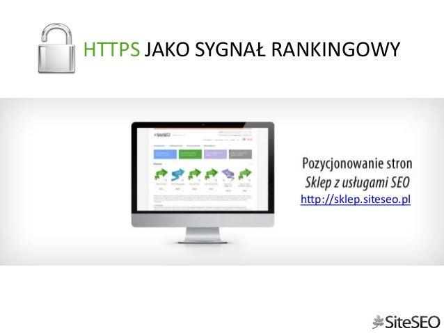 HTTPS JAKO SYGNAŁ RANKINGOWY  http://sklep.siteseo.pl