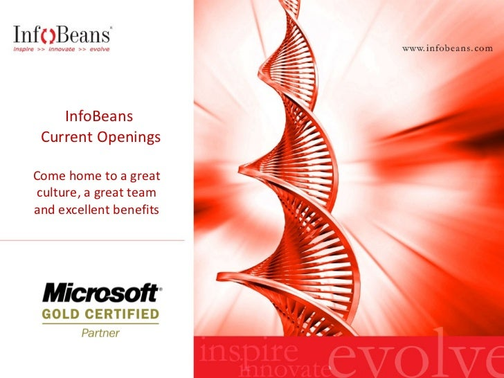 InfoBeans  Current Openings Come home to a great culture, a great team and excellent benefits