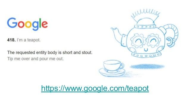 議論 ステータスコード 418 I'm a tea potは、エイプリルフールに発行され たジョークRFCであるRFC2324「Hyper Text Coffee Pot Control Protocol」 で定義されているステータスコード。 ...