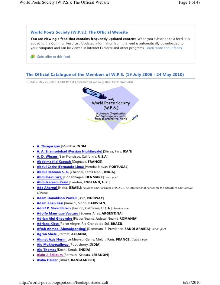 World Poets Society (W.P.S.): The Official Website                                                                 Page 1 ...