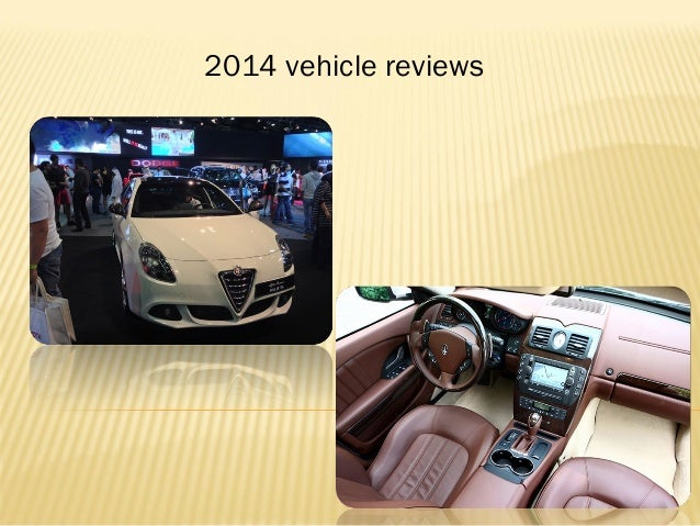 2014 vehicle reviews