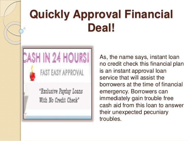 Instant Loans No Credit Check