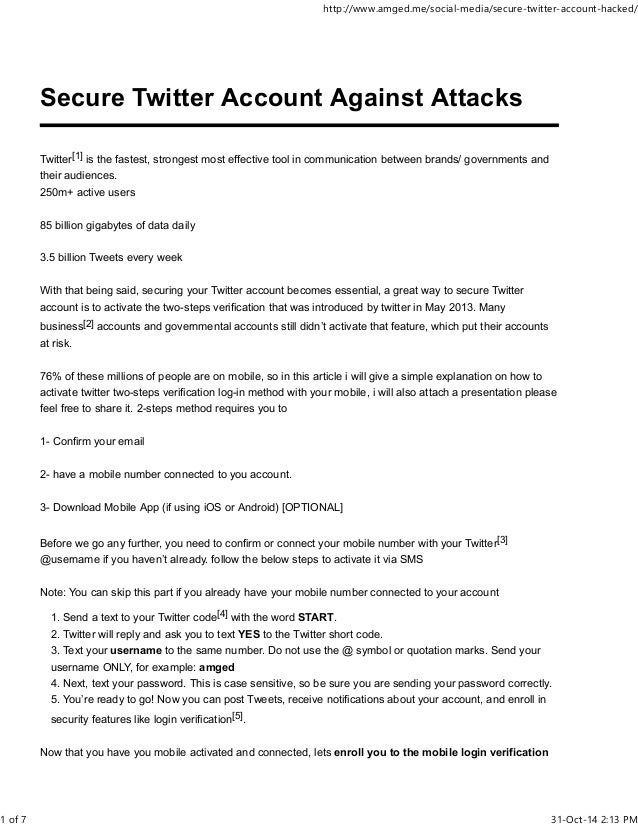 How to Secure Twitter Account Against Attacks - 2-steps