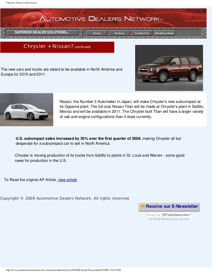 Automotive Dealers Network Articles By Ralph Paglia On
