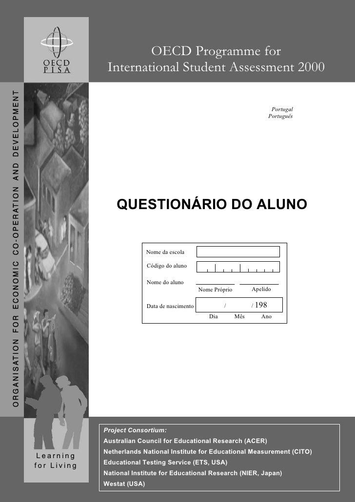 OECD Programme for               International Student Assessment 2000                                                    ...
