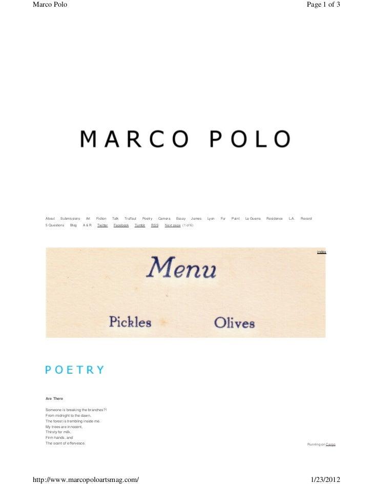 Marco Polo                                                                                                                ...