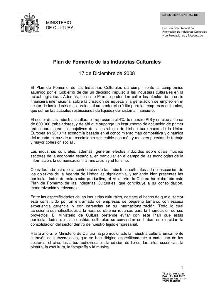 DIRECCIÓN GENERAL DE                                                                            POLÍTICA E INDUSTRIAS     ...