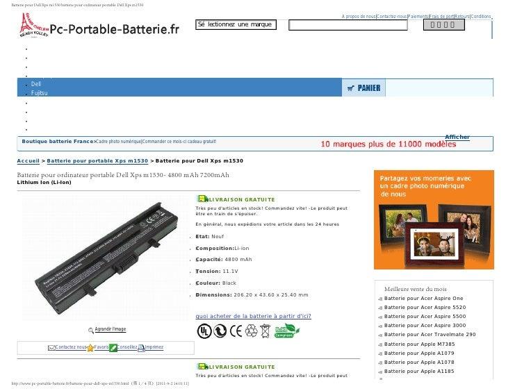 Batterie pour portable ACER  Aspire 9300 de la France
