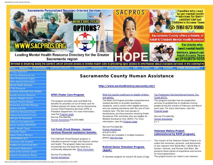 Sacramento County Human Services      Home        Magazine         ADVERTISING             SUPPORT GROUPS                 ...