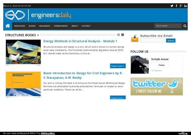 Free ebooks on structural engineering free ebooks on structural engineering march 3 2014 045354 am resources books magazines spreadsheets about fandeluxe Choice Image