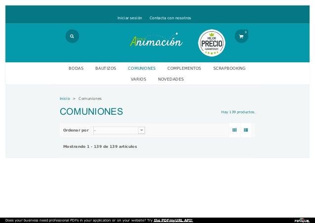 Hay 139 productos.  Ordenar por Mostrando 1 - 139 de 139 artículos COMUNIONES Iniciar sesión Contacta con nosotros Inici...