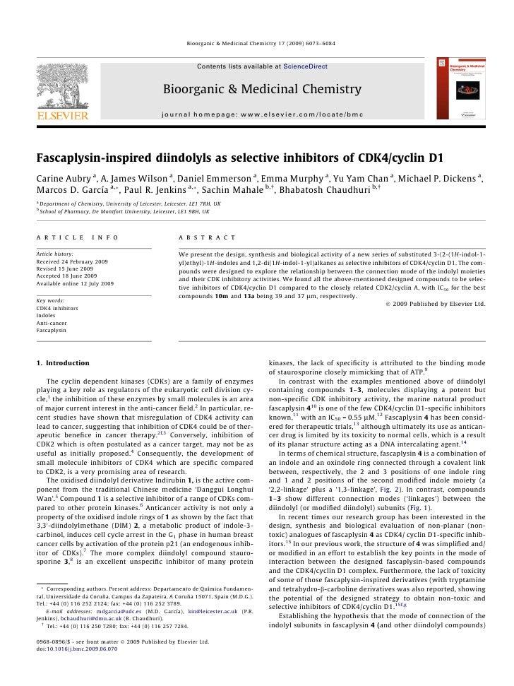 Bioorganic & Medicinal Chemistry 17 (2009) 6073–6084                                                                      ...