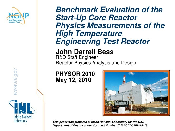 Benchmark Evaluation of the                Start-Up Core Reactor                Physics Measurements of the               ...