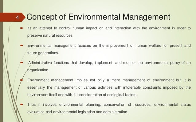 how to write an environmental management plan