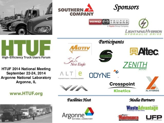 HTUF 2014 National Meeting  September 22-24, 2014  Argonne National Laboratory  Argonne, IL  Sponsors  Participants  TM  F...