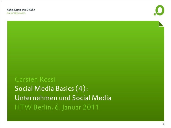 Social Media Basics, Teil 4  Slide 2