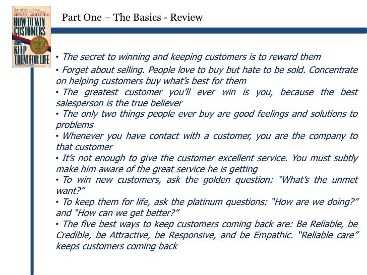 how to win customers and keep them for life pdf