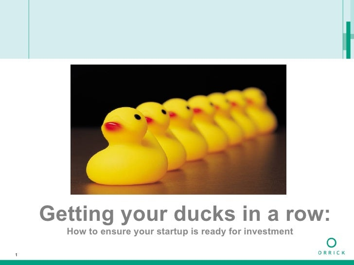 Getting your ducks in a row: How to ensure your startup is ready for investment