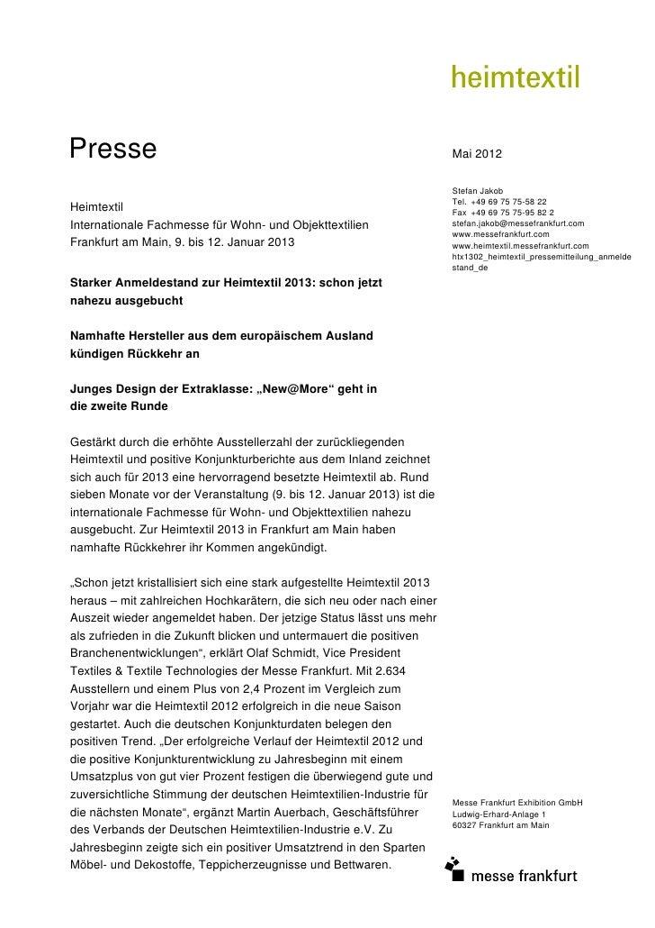 Presse                                                                     Mai 2012                                       ...