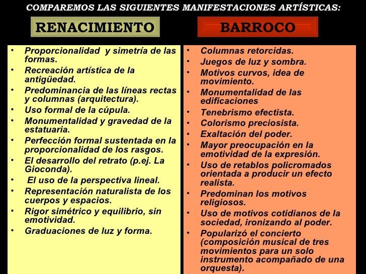 COMPAREMOS LAS SIGUIENTES MANIFESTACIONES ARTÍSTICAS: <ul><li>Proporcionalidad  y simetría de las formas. </li></ul><ul><l...