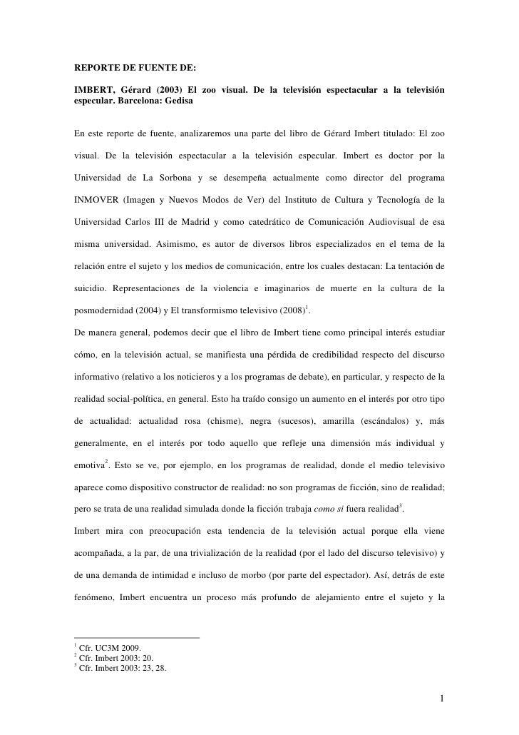 Ejemplo Reporte De Fuentes