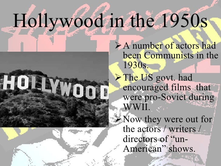 the investigation of ten hollywood actors by the house un american activities committee The hollywood ten men claimed they were being denied their rights, but the us house committee on un-american activities turned a blind eye  actors, and directors .