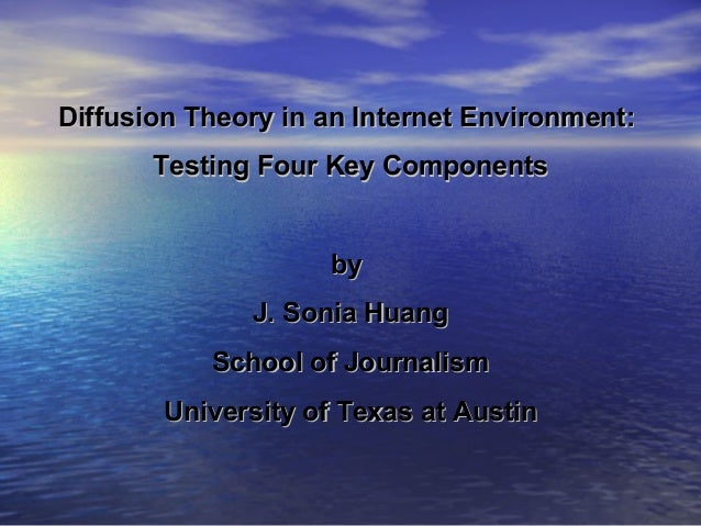 Diffusion Theory in an Internet Environment:Diffusion Theory in an Internet Environment: Testing Four Key ComponentsTestin...
