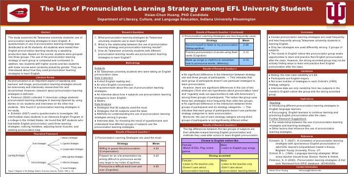 The Use of Pronunciation Learning Strategy among EFL University Students                                                  ...